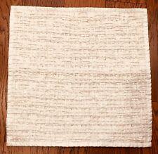 Sarita Handa 1 Piece Decorative Pillow Cushion Cover Cream Basketweave