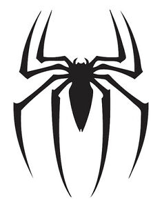 Spiderman Logo - 3M Scotchlite Reflective Sticker (Decal Skate Car Bike Black)