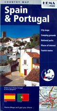 NEW 2008~MAP of SPAIN & PORTUGAL, Hema. GPS Grid, Index,Nat'l Parks,Tourist Rtes