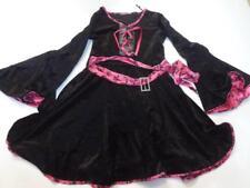 Juniors Pirate S/M Costume Outfit (Pink/Black) Skulls Robe