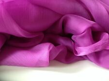 "NEW Rich Cerise 100% Silk Chiffon Fabric Dress Scarf 58""148cm Material Cloth Art"