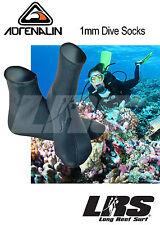 NEW Land & Sea ADRENALIN 1mm Neoprene Wetsuit Surf Sock Wet Suit Socks ONE PAIR