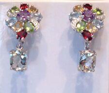 Amethyst Garnet Peridot Citrine Topaz Earrings. SALE
