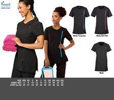 Lady Camelia Beauty & Spa Tunic Salon Beautician Nail Massage Therapist Uniform Black UK Size 20