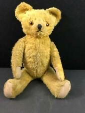 """Antique Mohair Jointed Teddy Bear Glass Eyes 18"""""""