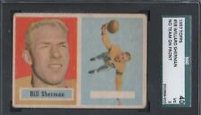 1957 Topps Football Card #58A Willard Sherman-Error Card-No Team on Front