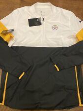 Mens Size Medium Nike Pittsburgh Steelers 1/2 Zip Pullover Jacket NFL AO4248-100