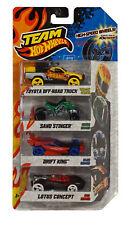 Team Hot Wheels Vehicle 4-Pack: Sand Stinger + Drift King +Toyota Off Road Truck