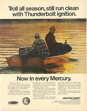 1967 MERCURY OUTBOARD MOTORS  MAGAZINE AD  THUNDERBOLT IGNITION