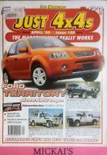 JUST 4X4 APRIL 2003 ISSUE 158 - FORD TERRITORY AWD NISSAN PATHFINDER SUBARU B11S