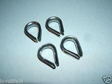 4 freno de mano de acero inoxidable 7mm marquesina de bucle de Cable Dedal Cuerda de alambre Remolque De Vela