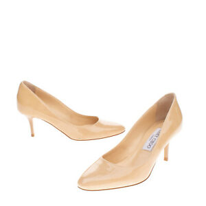 RRP €635 JIMMY CHOO Leather Court Shoes Size 35 UK 2 US 5 Patent Made in Italy