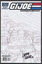 G.I. JOE #156 RI A REAL AMERICAN HERO SKETCH COVER SIGNED Larry Hama COA