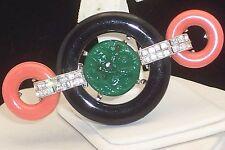 KENNETH JAY LANE KJL ART DECO REVIVAL FAUX ONYX JADE GLASS RHINESTONE BROOCH