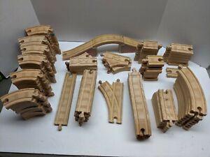 Thomas & Friends Wooden Railway Huge 100 X Track Piece Lot