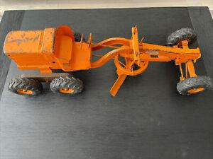 """Vintage 1950s DOEPKE MODEL TOYS Adams Motor Grader No. 512 - 26"""" Orange"""