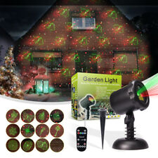 Christmas 12 Pattern Laser Garden Light Waterproof Landscape Lamp 66ft RF Remote