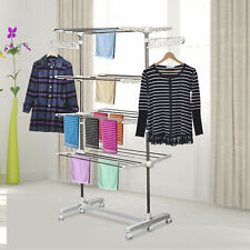 Clothes 3/4 Layers Folding Rail Hanger Portable Garment Airer Dryer Holding Rack