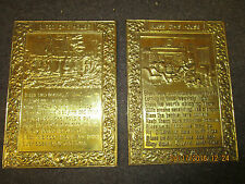 lot of two different vintage metal tin pictures copyright by Boosey & Hawkes