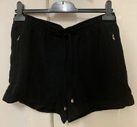 PAPER SCISSORS black satin drawstring SHORT, size 12, NEW w tag, excellent condi