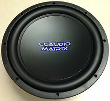 CCAUDIO Matrix 10'' Dual 4ohm Voice Coil Subwoofer Sub 400 Watts Rms NEW w/Grill