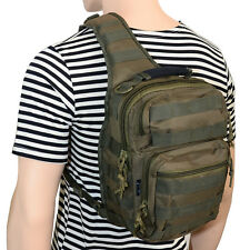 One Strap Shoulder ASSAULT PACK Molle OLIVE GREEN Military Army Holdall Rucksack