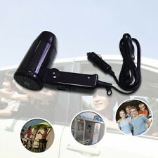 12V Foldable Car Hair Blow Dryer Heat Blower Hot Wind Portable For Travel Trip