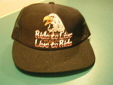 """HARLEY TODDLER HAT - """"RIDE TO LIVE - LIVE TO RIDE"""" -  NEW"""