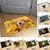 3D Cute Dog Print Non-slip Flannel Doormat Bath Mats Floor Entrance Mat Carpet