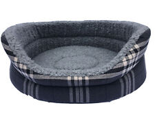 MEDIUM OVAL DOG BED IN CHARCOAL GREY REMOVABLE THICK FOAM INNER / WASHABLE  26'