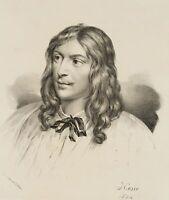 Heinrich Joseph HESSE, Porträt: Bourdon, Bildnis in Brustfigur, Lith. 1824