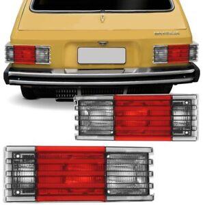 VW Brasilia Variant Complete Rear Tail Light Assembly Full 1pc White Red White