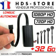 MODULE CAMERA BOUTON ESPION FULL HD 1080P + MICRO SD 32 GO DÉTECTION VIDÉO 720P