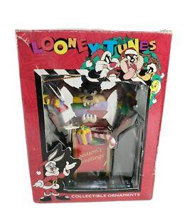 Looney Tunes Taz Mailbox Mailman Tasmanian Devil Christmas Ornament Vintage 1996
