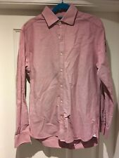 Men's Red Reiss Pointer Shirt Size M (38) RRP £95