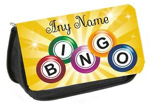 Personalised Bag/Pencil Case for Bingo Pens/Dabbers. Available in BLUE/RED/BLACK