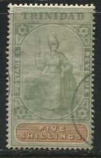 Trinidad 1896 5/ green and orange used