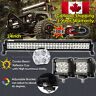 24inch LED Light Bar Combo + 4inch Cree Work Lights Offroad Truck Jeep SUV 22/20