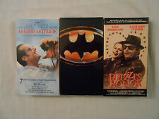 3 Jack Nicholson Movies On 3 VHS Tapes: As Good As It Gets/Batman/Prizzi's Honor
