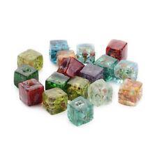 10 filamento Cubo Millefiori cristal cuentas hecho a mano Artesanía Joyería color mezclado