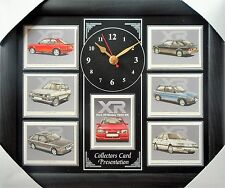 Ford XR Models 1980-89 Stunning Collector Cards Wall Clock