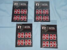 Nebraska Huskers GLITTER TATTOOS New in Package!  by RICO  Set of 4 packages