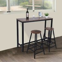 Household Pub Table Counter Height Dining Table , Set of 2 Inch Bar Stool Chair
