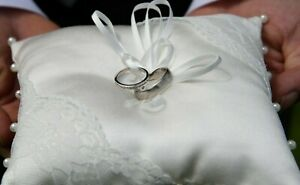 Ivory Ring Pillow Cushion ONLY - Wedding - Lace and Pearls - BNWOT