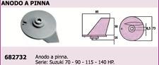 ANODO A PINNA  x MOTORE SUZUKI  70 - 90 - 115 - 140  hp  ACCESSORI NAUTICA