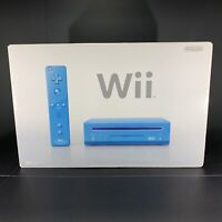 Nintendo Wii Limited Edition Blue Console System W/ Original Box Free Shipping