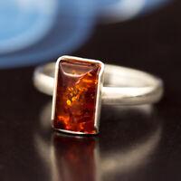 Bernstein Silber 925 Ring