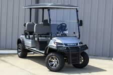 """NEW 2022 Silver / Gray 48V Electric Golf Cart 6"""" Lifted 4 Passenger Forward"""