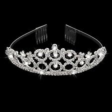 Wedding Bridal Crystal Rhinestone Diamante Tiara Crown Headpiece Headband