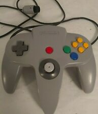 Nintendo 64 Controller Gray Tested Works Tight Joystick NUS-005 OEM